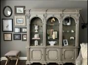 Lighted Solid Wood Wall Unit - Hand Painted