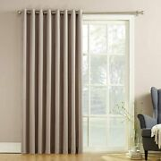 Door Curtain Panel Sliding Glass Patio Blinds Blackout Pull Wand 100x 84 Colors