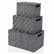 Storage Bins With Lids, Decorative Cube Basket Boxes Lid For Grey Box With Lid