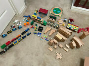 Thomas The Tank Engine Wooden Trains Tracks And Buildings + Melissa And Doug Lot