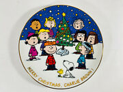 Danbury Mint Peanuts Magical Moments Merry Christmas Charlie Brown Plate F5872