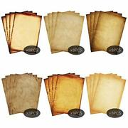 Stationary Paper 48 Pack Parchment Antique Colored Printed Paper, Stationery Vin