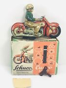 """Schuco 1000 Curvo Wind Up Motorcycle With """"original"""" Box And Key"""