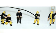 5 1970 Fire Fighters F134ap4 Painted Oo Scale Langley Models People Figures