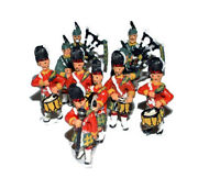 Kilted Pipe Drums Band F109a Unpainted Oo Scale Langley Model Kit People Figures
