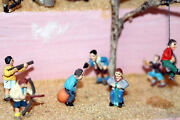 6 Boys Playing Various Toys F177p Painted Oo Scale Langley Models People Figures
