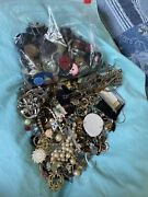 2 Lb+ Junk Drawer Old Buttons+jewelry Vintage Craft Scrap Wear Parts Only