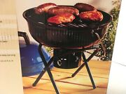 Camping Table Top Portable Charcoal Grill Outdoor Patio Bbq Bakelite Handle