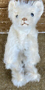 Early Antique Miniature Steiff 1909 Jointed 3 1/2andrdquowhite Bear Early Rare Example