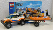 2 Complete Sets Lego City600124x4 And Diving Boat And 60011 City Surfer Rescue
