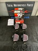 Kandn High Flow Motorcycle Pod Filters Rc-1824 Brand New In Box