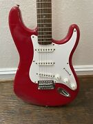 2000 Fender Squier Strat Right Handed Cherry Red Electric Guitar Affinity Series