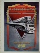 The Rolling Stones 1989 Steel Wheels Tour Poster-1st Printing-artist Proof