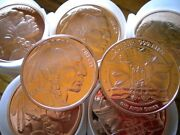 Roll Of 20 1 Tube Of 2012 Indian Head Copper Rounds .999 Uncirculated Bullion