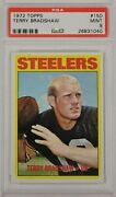 Terry Bradshaw Psa 9 Mint 1972 Topps Pittsburgh Steelers 2nd Yr Football Card