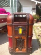Antique Jukebox 1930and039s Rock-ola Cabinet With Speaker