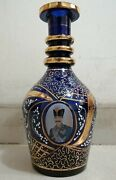 Vintage Glass Hookah Hand Painted Persian King Qajar Height 8.5 Inches