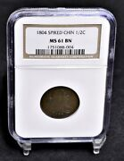 1804 Half Cent - Spiked Chin - Ngc Ms61bn 36119