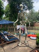 12 Ft Tall Skeleton W/ Animated Lcd Eyes Halloween Prop Sold Out New Houston,tx