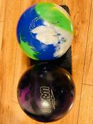 Storm And Maxim Bowling Balls With Kr Select 22 Double Bowling Bag