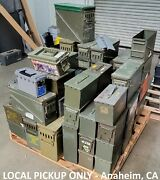 Pallet / Lot Of 75 Ammo Cans 30 Cal 50 Cal 40mm 20mm And Many Other Sizes