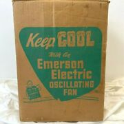 Vintage Emerson Electric Fan Nw-120 94646d Empty Box Only Oscillating Csh