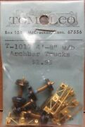 Tomalco T-1017 Hon3 4and039 8 Arch-bar Freight Car Trucks 4 Brass Nos