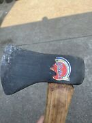 Nice Collins / Mann Axe With Original Logo Label On An American Hickory Handle