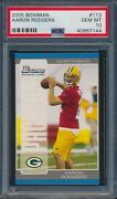 2005 Bowman Football Aaron Rodgers Packers Rooie 112 Psa 10