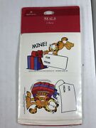 Vintage 1978 Hallmark Garfield Seals Brand New And Sealed Stickers For Gifts