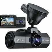 N2s 4k Uber Dual Dash Cam With Gps, 1440p Front And Cabin Car Dashboard Camera,