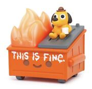 100 Soft Dumpster Fire This Is Fine Vinyl Figure Sold Out Confirmed Pre-order