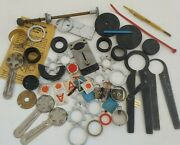 Qw4 Vintage Watchmakers Lot Repair Tools Accutron Bulova More Case Opener Group