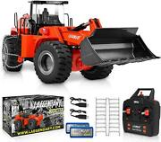 R/c Construction Bulldozer Front Loader Tractor Remote Control Toy For Kid Metal