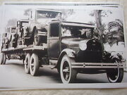 1930 And039s Ford Model A On Ford Aa Car Carrier 11 X 17 Photo Picture