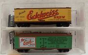 Micro-trains N Scale Beer Cars Edelweiss/tivoli Lot Of 2 Vintage