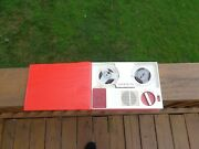 Vintage 60and039s Lafayette Portable Reel To Reel Tape Recorder Toy Rare Works Japan