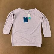 Market Spruce Womenand039s Size Small Purple 3/4 Sleeve Paulsen Brushed Knit Top Nwt