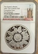 2021 Uk Two Ounces 2 Oz Silver Proof Queenand039s Beast Completer Ngc Pf69 Fr Box Coa