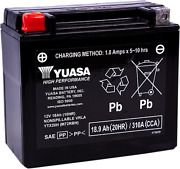 H-p Factory Activated Agm Maintenance Free Battery Ytx20h Harley Low Glide 84-85