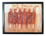 Original Oil Painting On Canvas Knights Templar Crusades Peter Dunn Signed 34x44