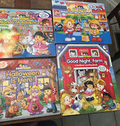 Lot Of 4 Fisher Price Little People Lift The Flaps Board Books Halloween Farm