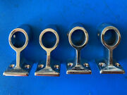 Stainless Rail Stanchion Center 7/8 Bimini Boat Hardware 316 Ss Lot Of 4