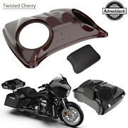 Twisted Cherry Dual 8and039and039 Speaker Lids For Advanblack/harley Chopped Tour Pak Pack