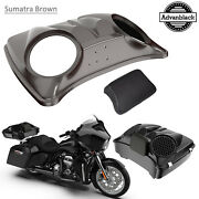 Sumatra Brown Dual 8and039and039 Speaker Lids For Advanblack/harley Chopped Tour Pak Pack