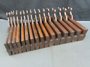 18th Century Half Set 16 Wooden Moulding Plane Hollow And Round Old Tool I Cogdell