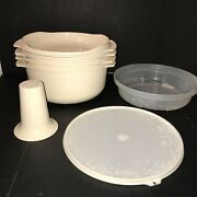 Rare Tupperware Usa Vintage 8 Pc Stack Cooker Includes Cone Prep Microwave