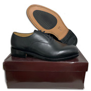 Royal Navy Black Leather Naval Dress Shoes W/ Leather Soles - Sizes British New