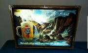 Old Style Beer Motion Moving 8 Waterfalls And Deer Snow Cap Mountain Light Up Sign