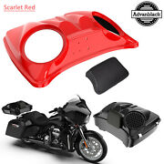 Scarlet Red Dual 8and039and039 Speaker Lids For Advanblack/harley Chopped Tour Pak Pack